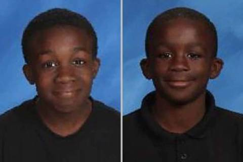 Calvin Giles, 15, left, and Julien Marcelin, 11 (Las Vegas Metropolitan Police Department)