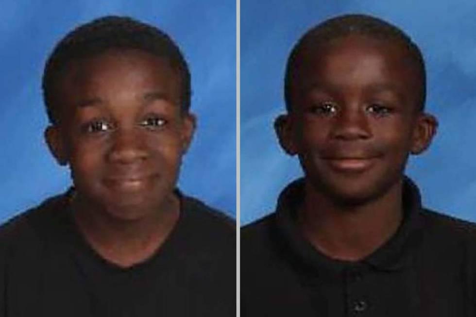 CalvinGiles,15,left, andJulienMarcelin,11 (Las Vegas Metropolitan Police Department)