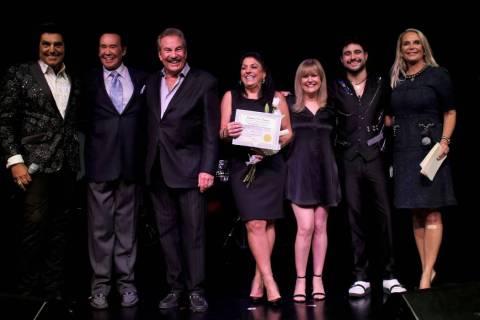 Vinny Adinolfi, Wayne Newton, producer Alan Glist, Carol Adinolfi, Kathi Glist, Vin A. Adinolfi ...
