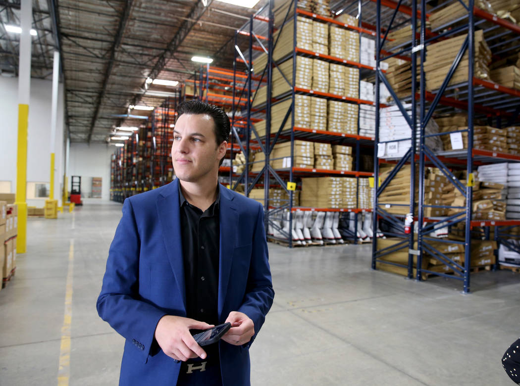 Chief Operating Officer David Meniane gives a tour of the new CarParts.com distribution facilit ...