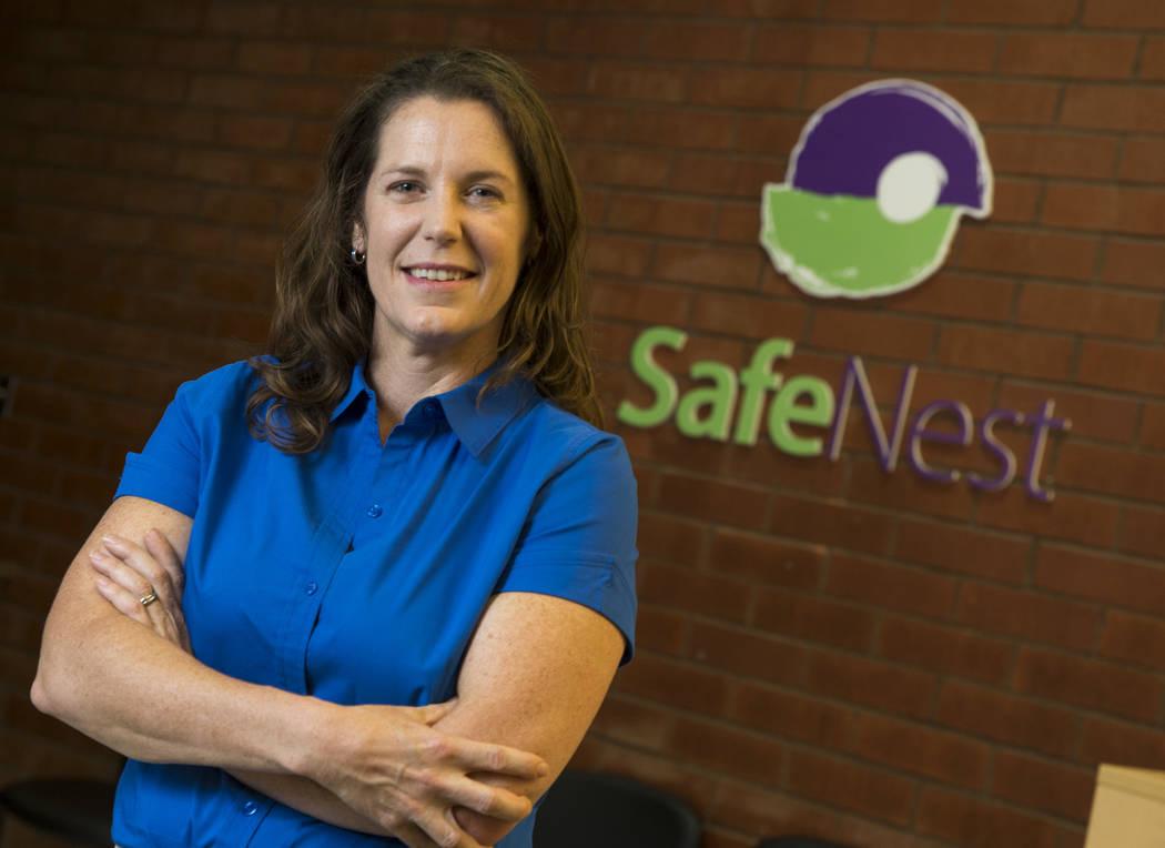 Safe Nest CEO Liz Ortenburger at her office in Las Vegas on Wednesday, Oct. 3, 2018. Richard Br ...