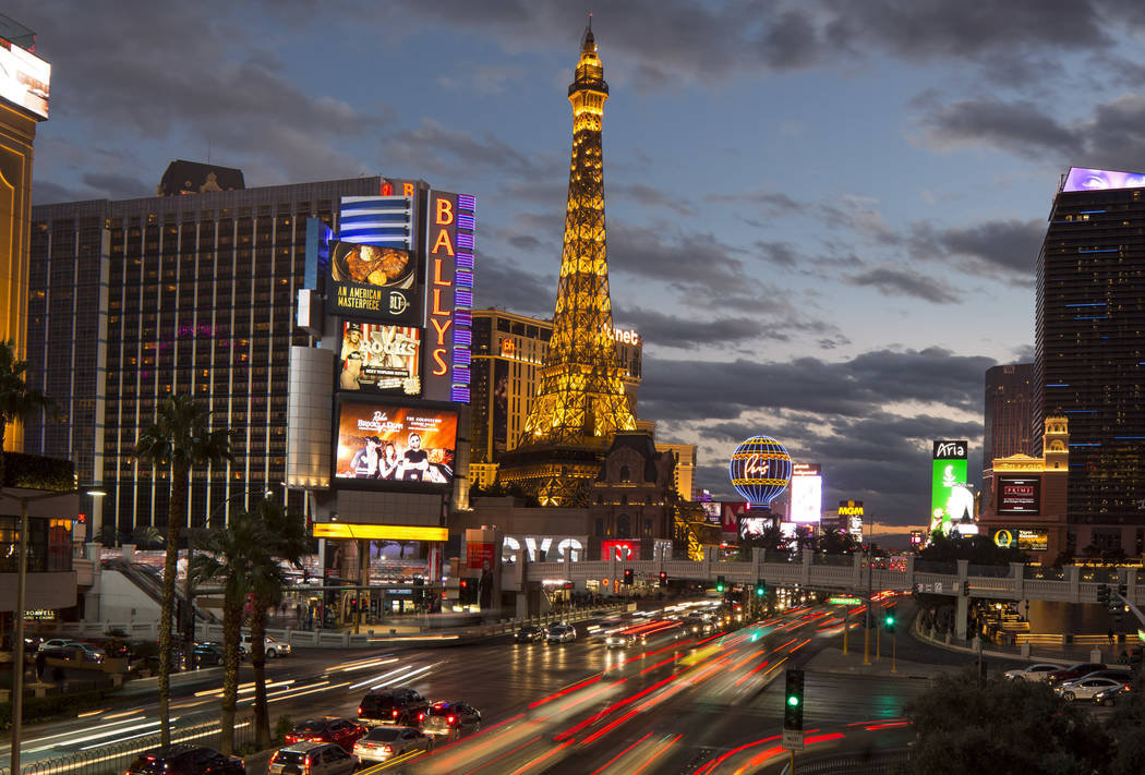 This Nov. 28, 2018, file photo shows casino hotels on the Strip in Las Vegas. Richard Brian Las ...