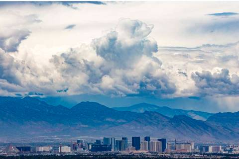 Cool and windy weather will linger in the Las Vegas Valley for a few more days before temperatu ...