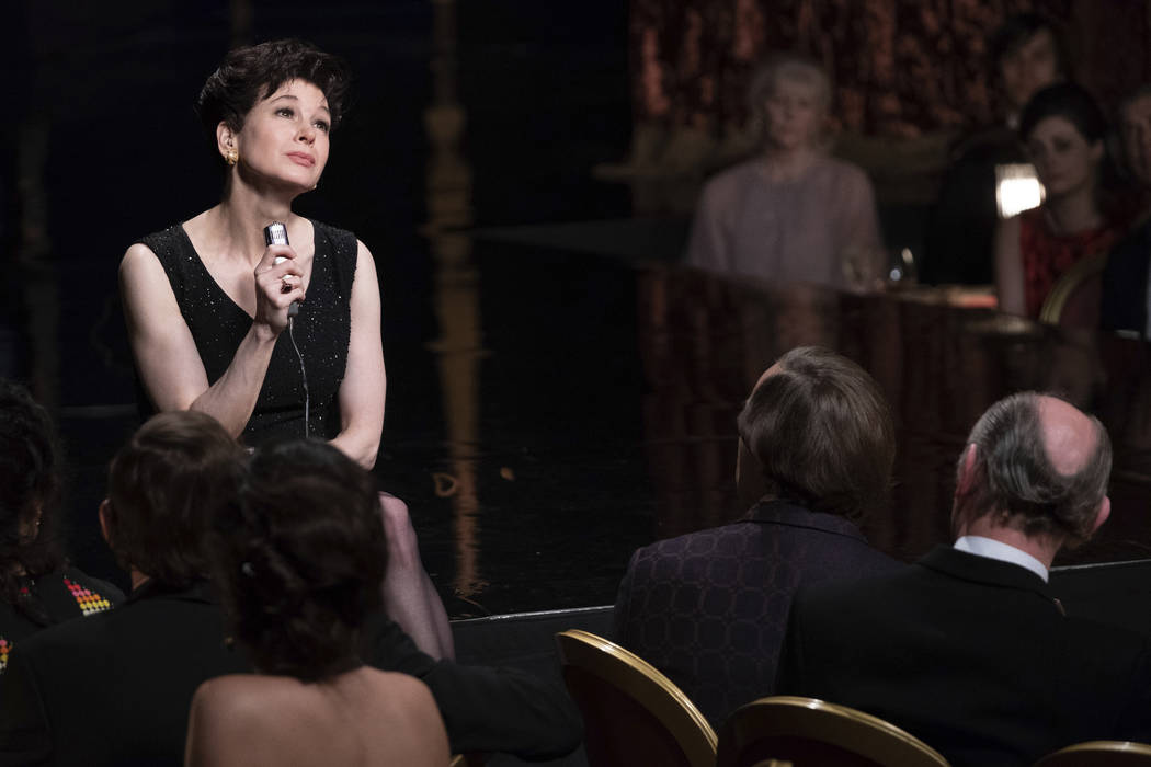 This image released by Roadside Attractions shows Renée-Zellweger as Judy Garland in a s ...