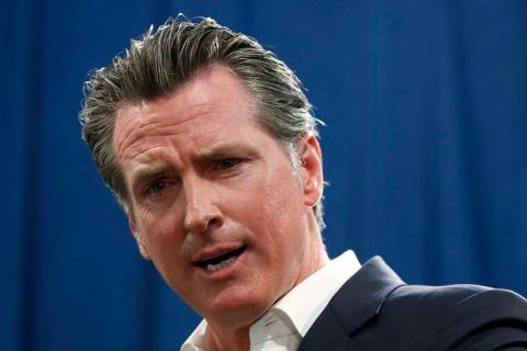 In a Sept. 16, 2019, file photo, Gov. Gavin Newsom answers a question during a news conference ...