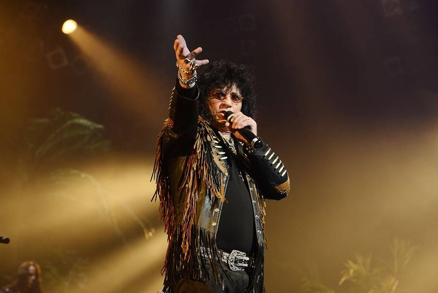 """Paul Shortino performs in """"Raiding the Rock Vault"""" on March 4, 2014 in Las Vegas. (Denise Trusc ..."""