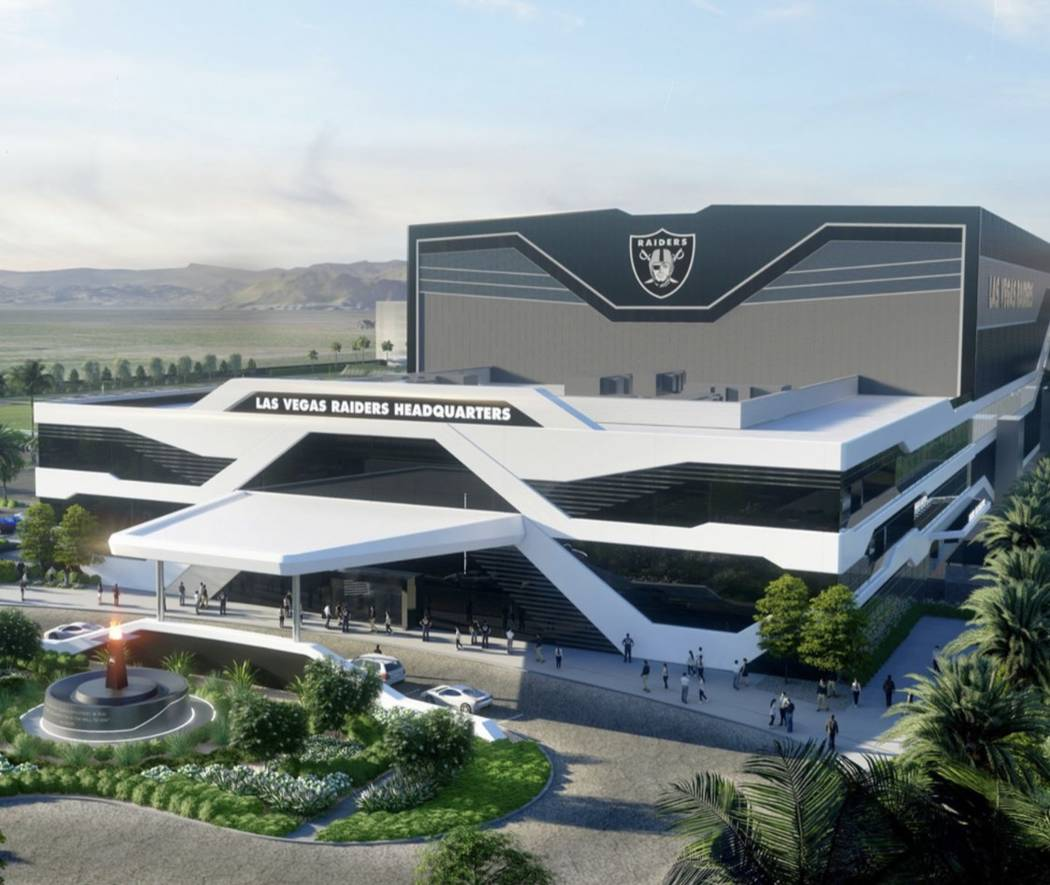 Rendering of the Raiders Henderson headquarters and practice facility. Courtesy: Raiders