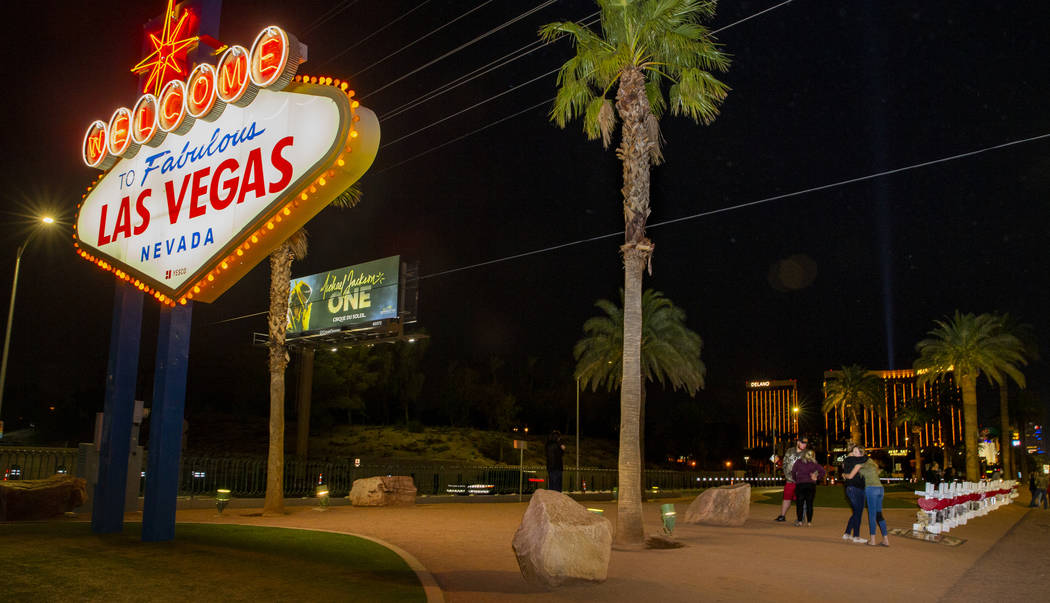 "Greg Zanis placed 58 crosses near the ""Welcome to Fabulous Las Vegas"" sign, an unexpected move ..."