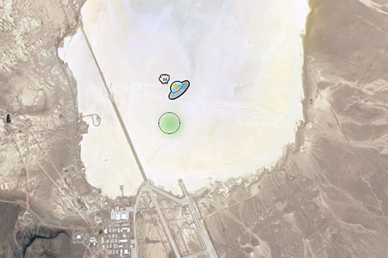 Ufo Spotted At Area 51 On Google Maps Video Las Vegas Review