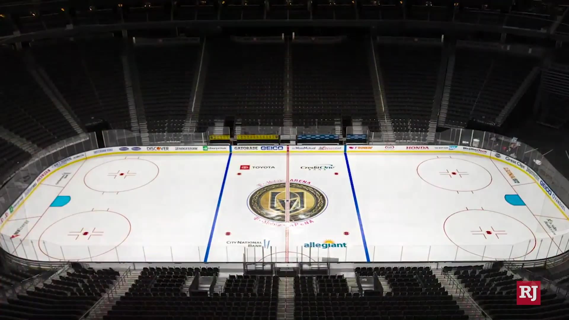 Golden Knights' ice installed at T-Mobile Arena — TIMELAPSE