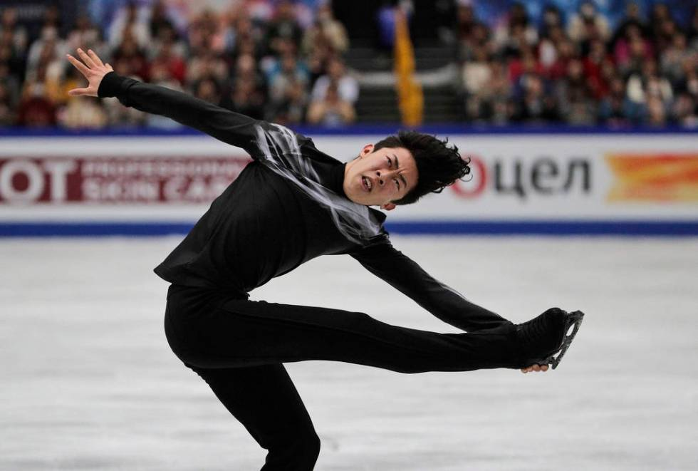 Nathan Chen from the U.S. performs his men's free skating routine during the ISU World Figure S ...