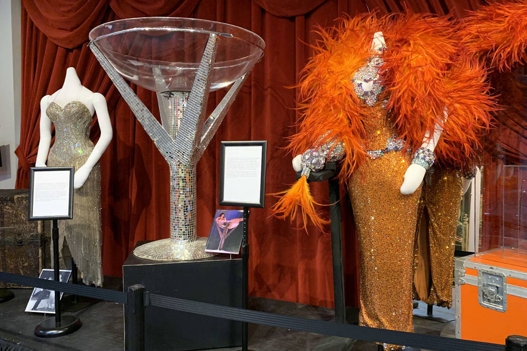 A Dita Von Tease display at the Burlesque Hall of Fame in Las Vegas. (Mat Luschek / Review-Journal)
