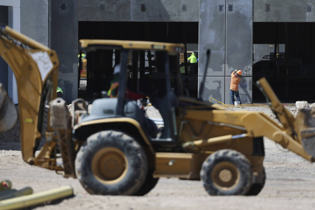 Construction of the Matter Real Estate Group warehouse project in Henderson, Wednesday, Aug. 21 ...