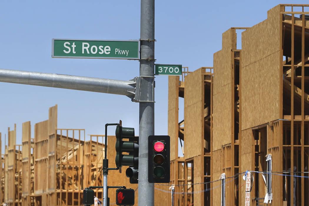 St. Rose Parkway in Henderson, Wednesday, Aug. 21, 2019. (Erik Verduzco / Las Vegas Review-Jour ...
