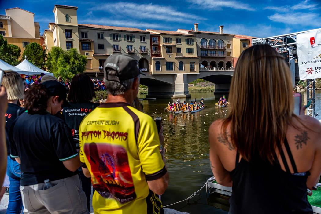 Lavonne Hing Spectators at last year's Rose Regatta Dragon Boat Festival watch teams race at La ...
