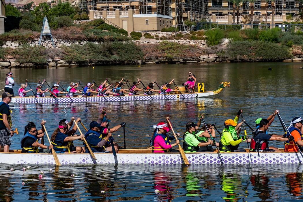 Lavonne Hing Teams race during last year's Rose Regatta Dragon Boat Festival, held at Lake Las ...