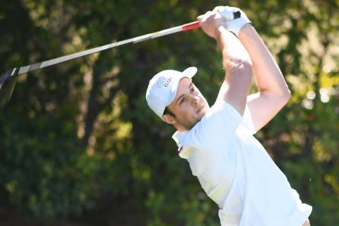 UNLV junior Jack Trent, shown in March, had an eagle and six birdies Sunday en route to a 5-und ...