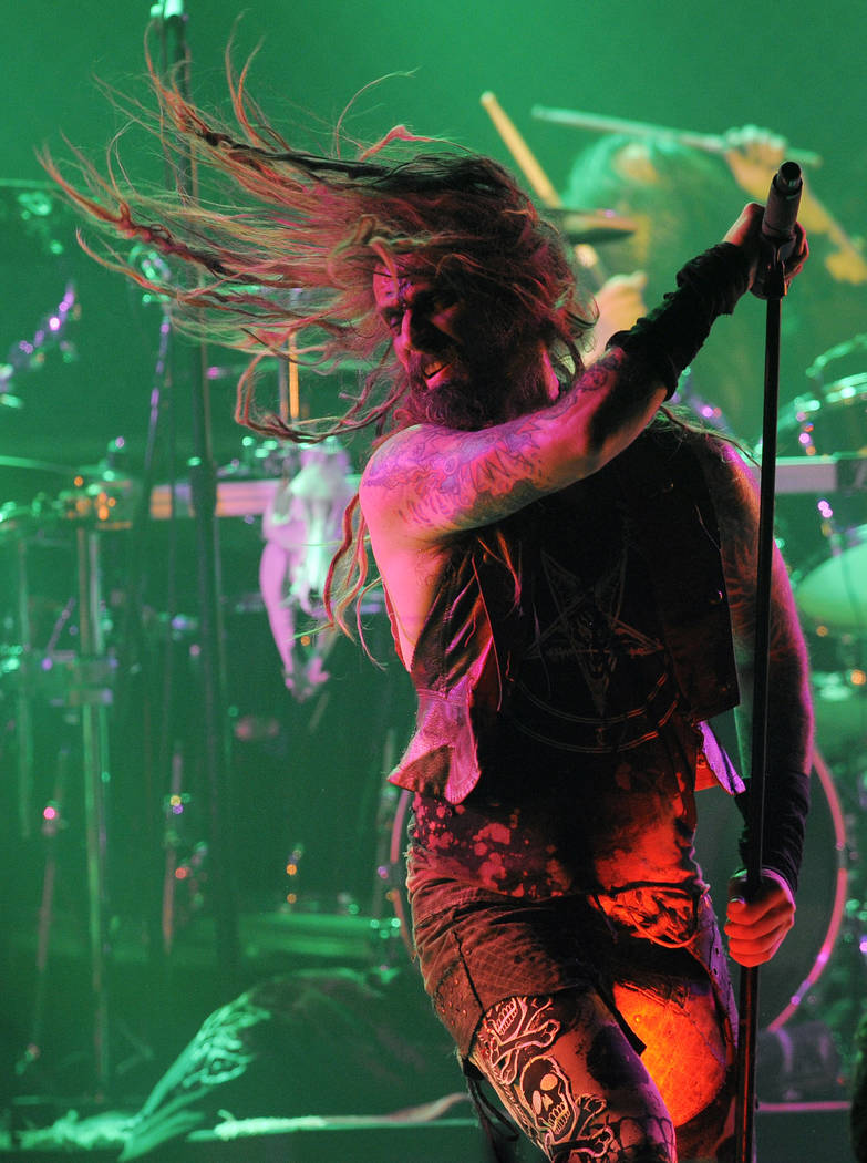 Rob Zombie performs during the second annual Revolver Golden Gods Awards in Los Angeles, Thursd ...