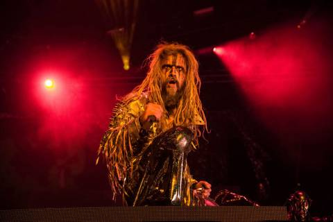 Rob Zombie performs at the Louder Than Life Music Festival at Champions Park on Saturday, Sept. ...