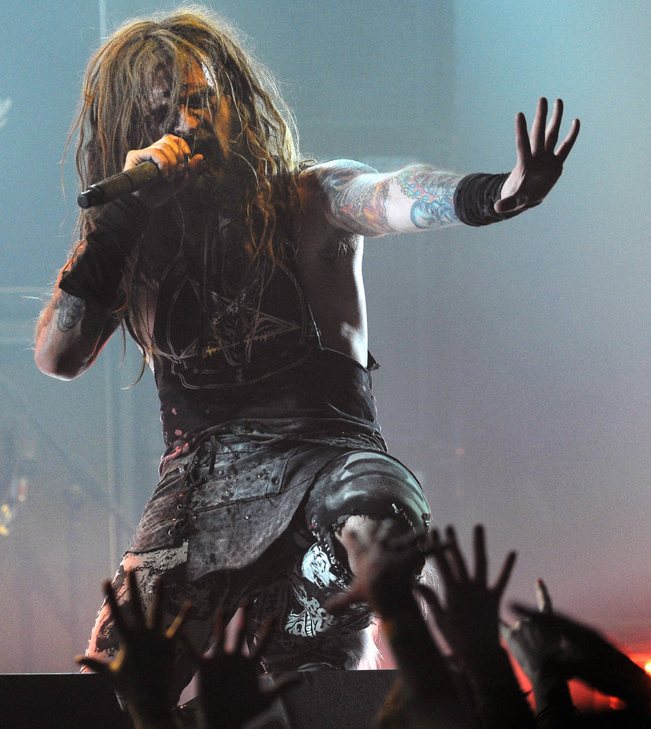 FILE-- This April 8, 2010 file photograph shows singer Rob Zombie as he performs during the sec ...