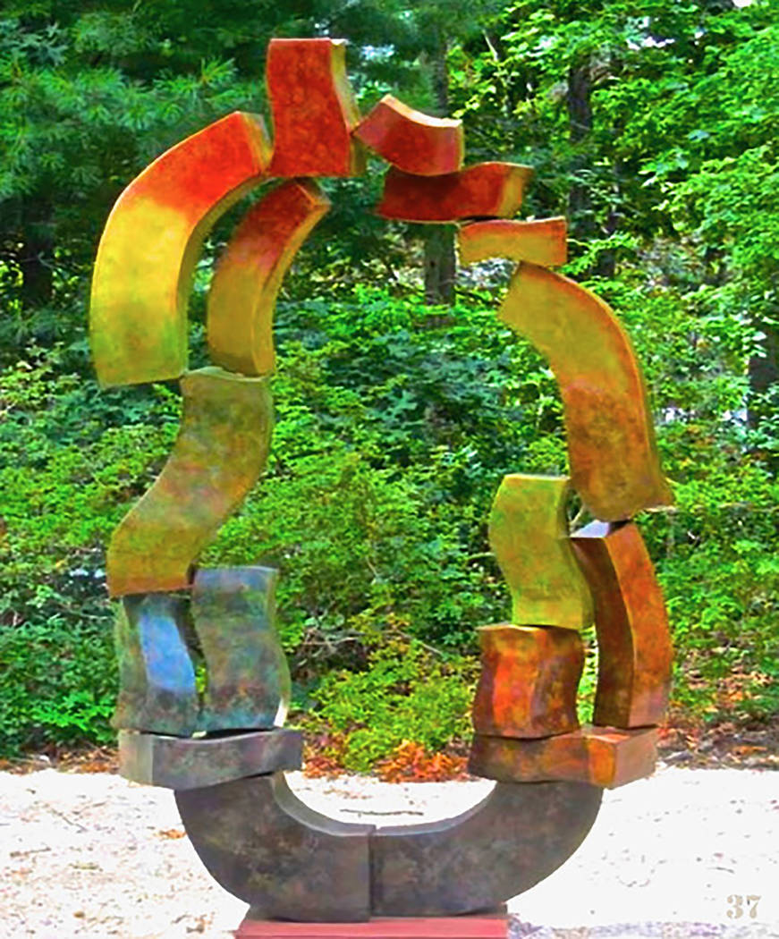 "Prismatic Oracle ( Bronze Multi Patina 96""H x60""W x24""D) by Hans Van de Bovenkamp"