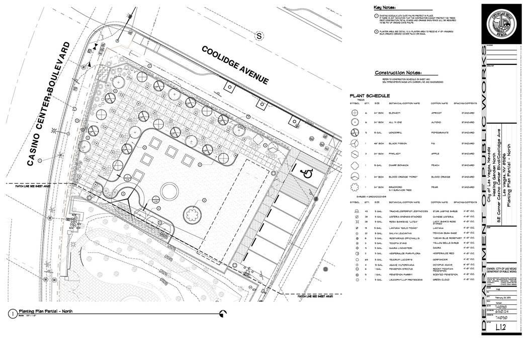Plans for Healing Garden in downtown Las Vegas (City of Las Vegas)