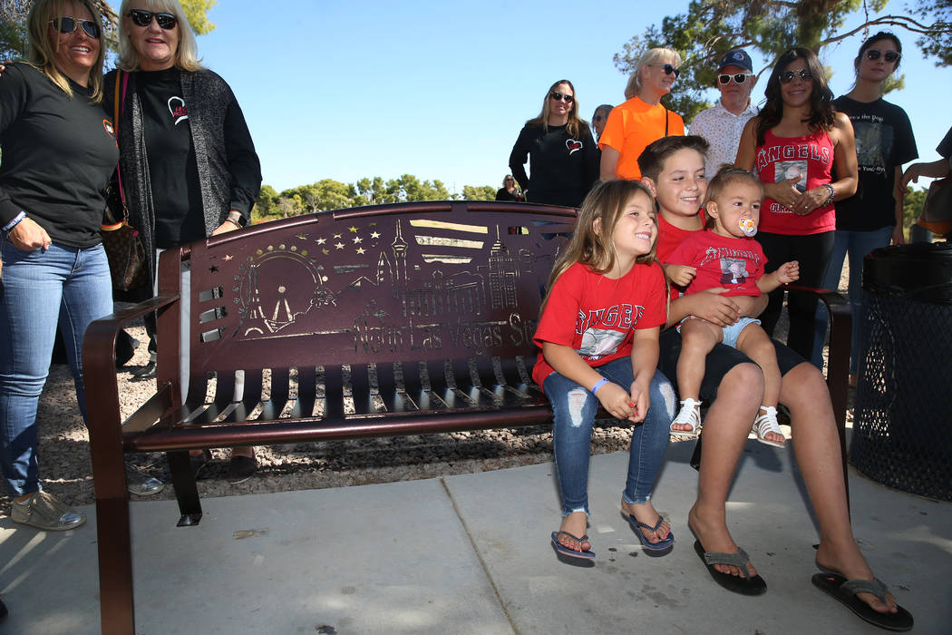 The family members of Brian Fraser, who was killed during the Route 91 Harvest festival, includ ...