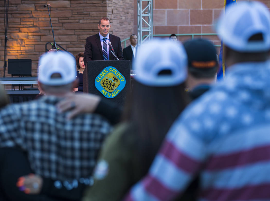 Joe Robbins, father of Quinton Robbins, a victim of the Route 91 Harvest festival shooting, spe ...