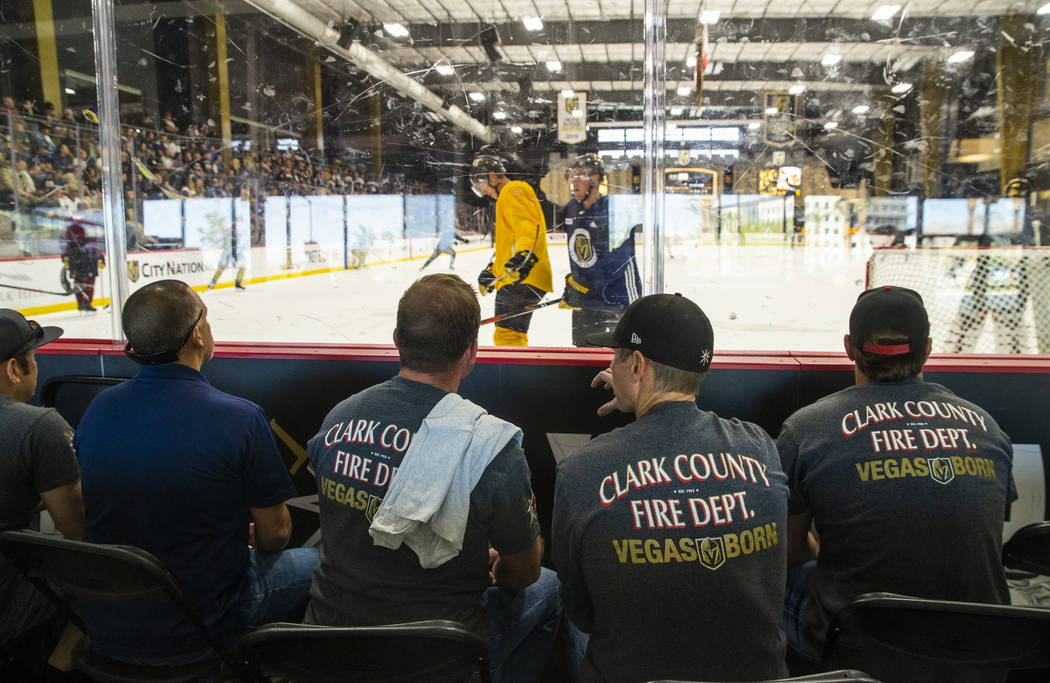Clark County firefighters join other first responders, Mandalay Bay employees and others affect ...