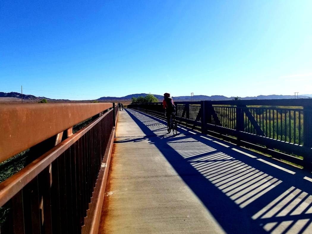 Several approaches can be taken when biking at the Clark County Wetlands Park. A smart spot to ...