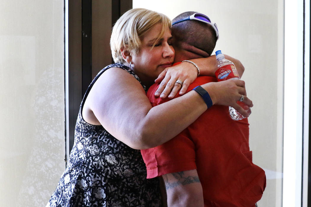 Renne Mack and her husband Morgan, the parents of Dylan Mack, 18, one of the teens killed in a ...