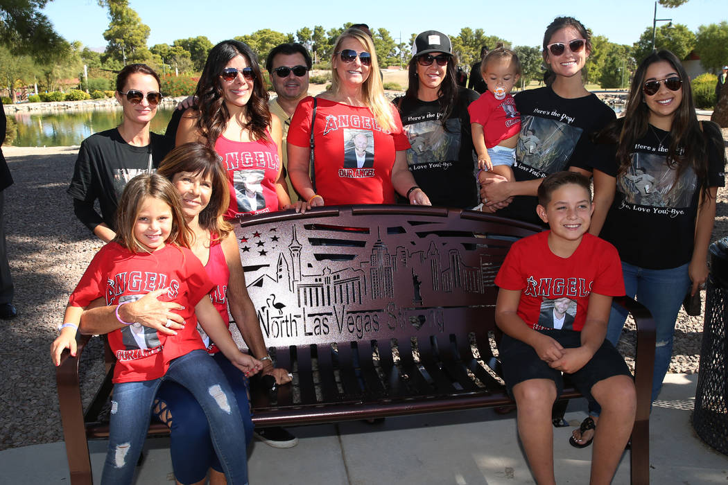 The family members of Brian Fraser, who was killed during the Route 91 Harvest festival, are ph ...