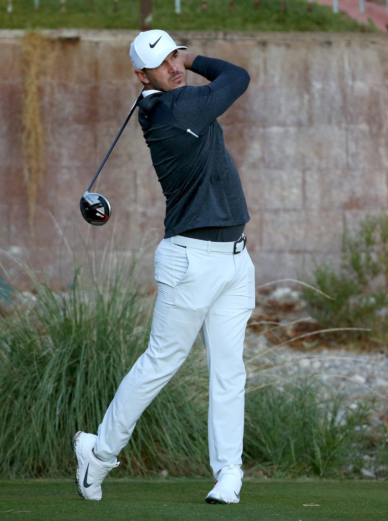 Brooks Koepka hits on the 11th tee during the Shriners Hospitals for Children Open Pro-Am at TP ...
