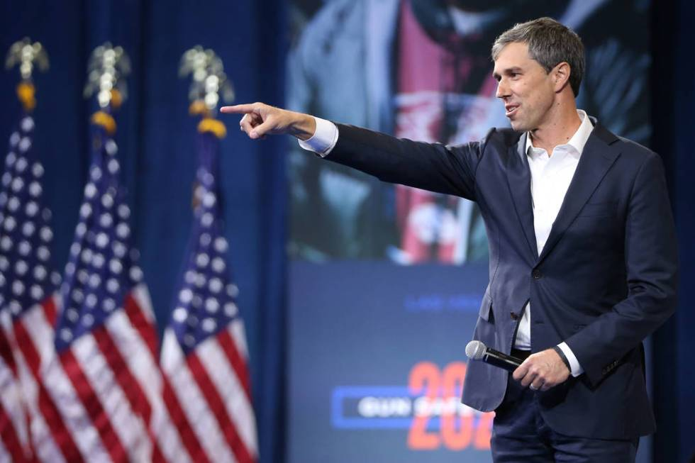 Democratic presidential candidate Beto O' Rourke takes the stage during the 2020 preside ...