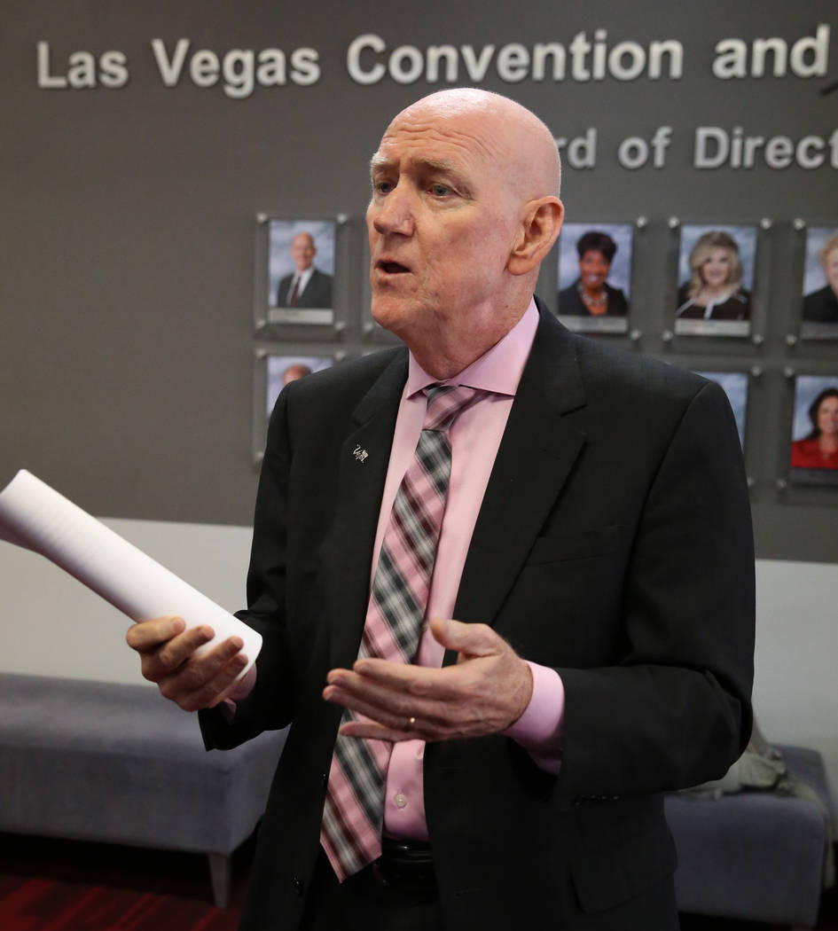The Las Vegas Convention and Visitors Authority Board Chairman and Clark County Commissioner La ...