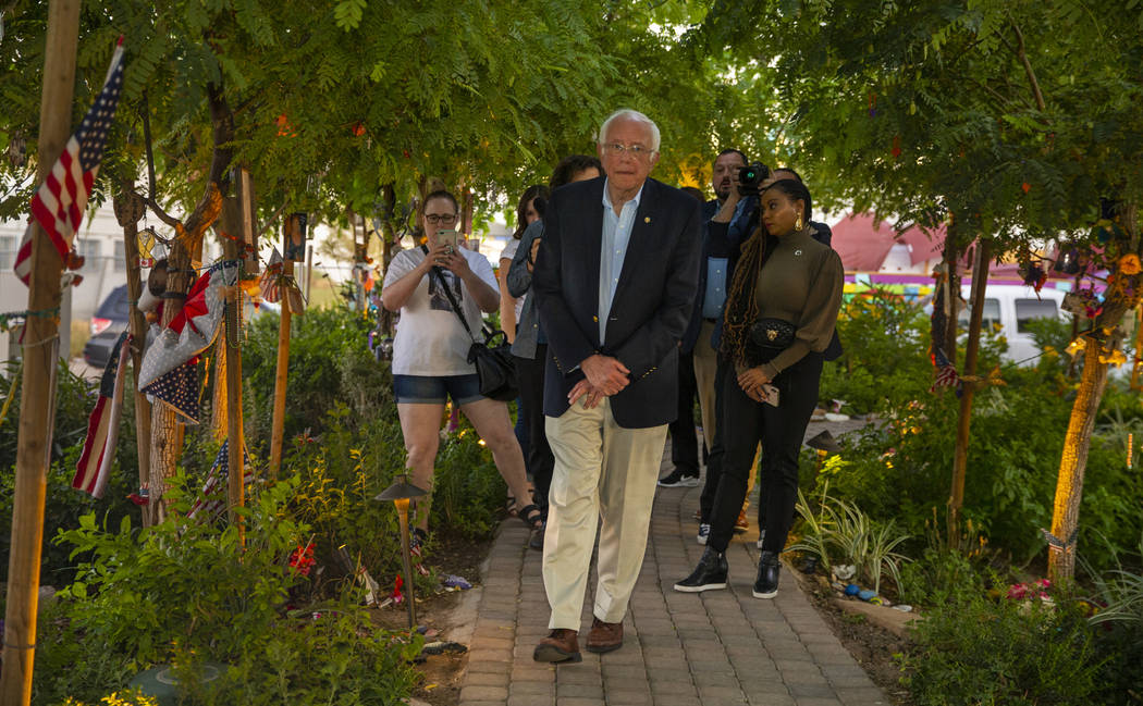 Democratic presidential candidate Sen. Bernie Sanders, I-Vt., makes a visit the to the Las Vega ...