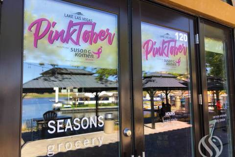 "Seasons Grocery at Lake Las Vegas Resort is celebrating ""Pinktober"" all monthlong with oppo ..."