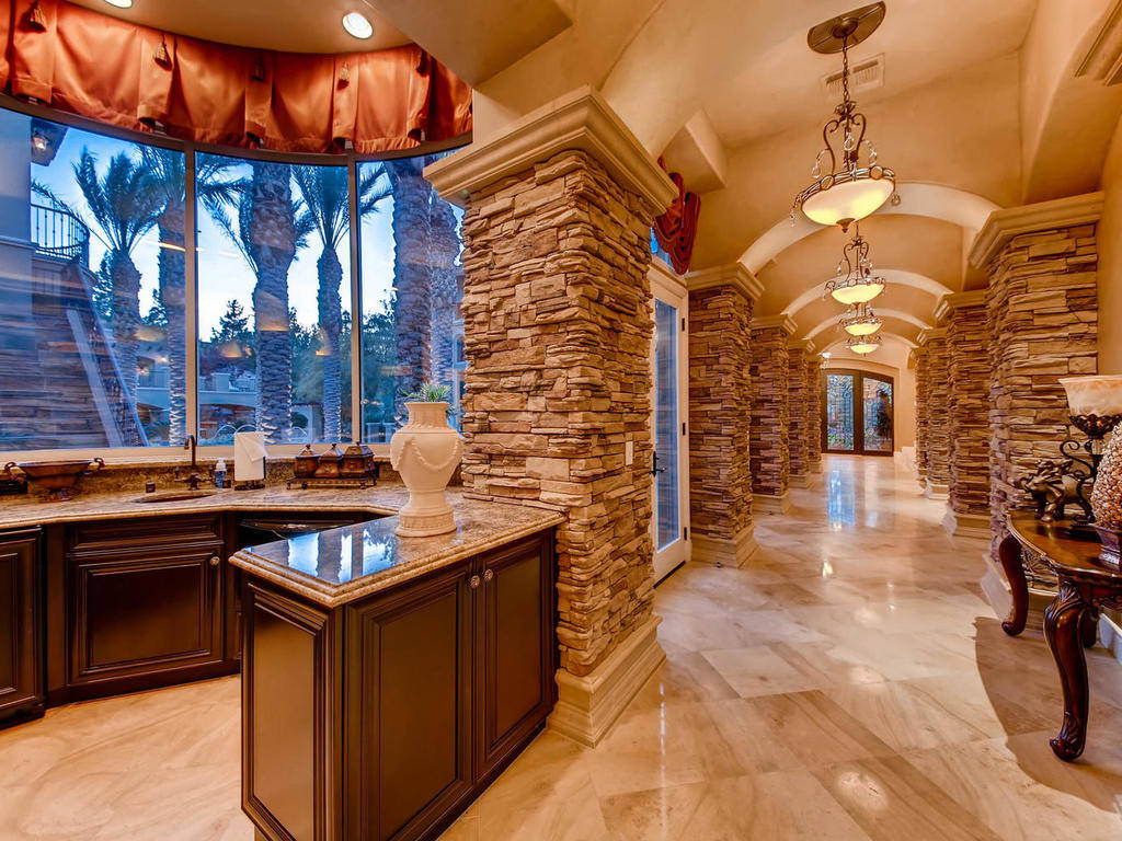 The home is built for entertaining.