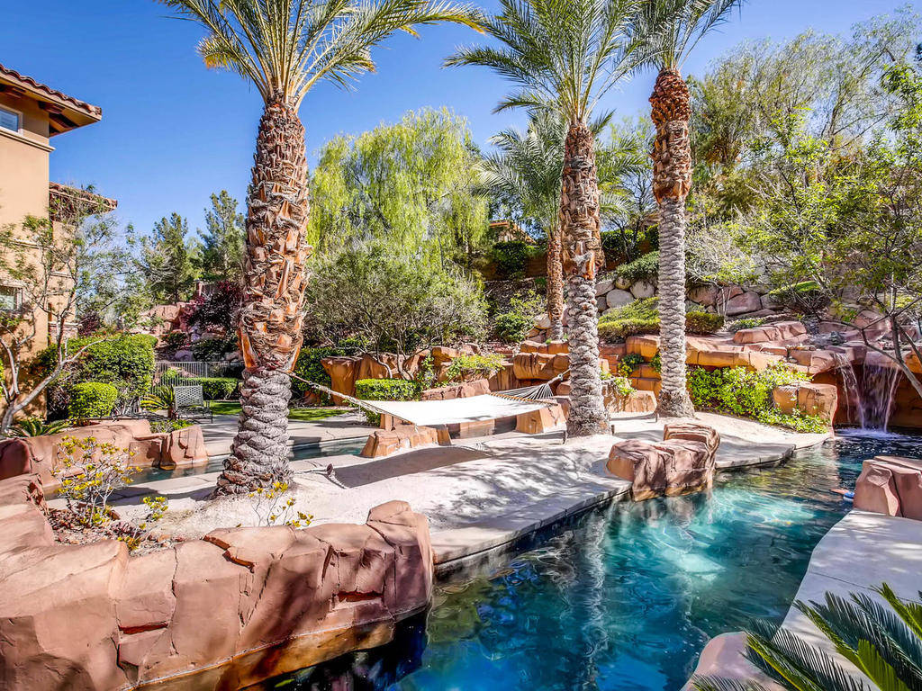 A lazy river flows throughout the property.