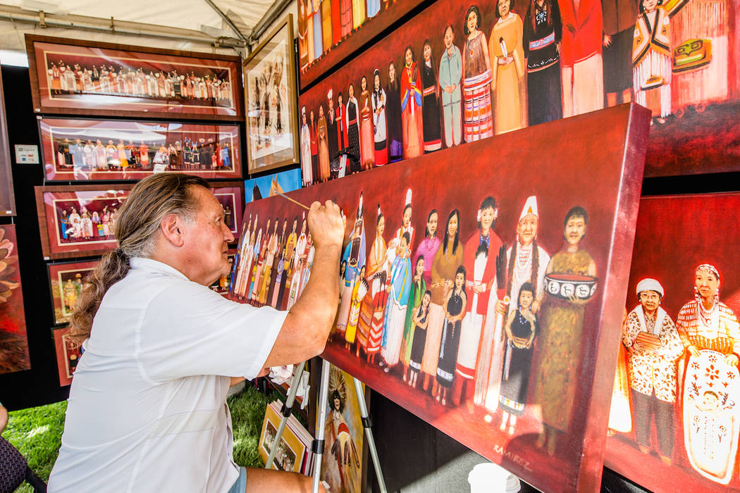 More than 100 artists will be showing off their work at the Summerlin Festival of Arts in Downt ...
