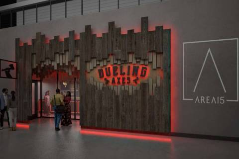 Dueling Axes to open at Area15. (Mode Architects)