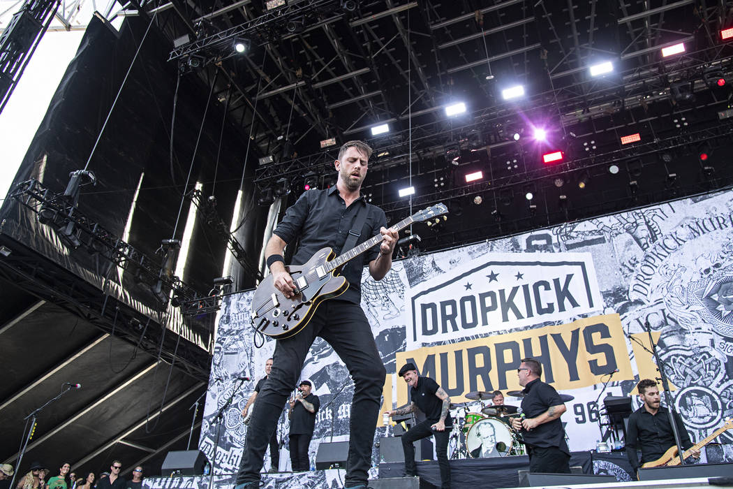 Tim Brennan of Dropkick Murphys performs during Louder Than Life at Highland Festival Grounds a ...