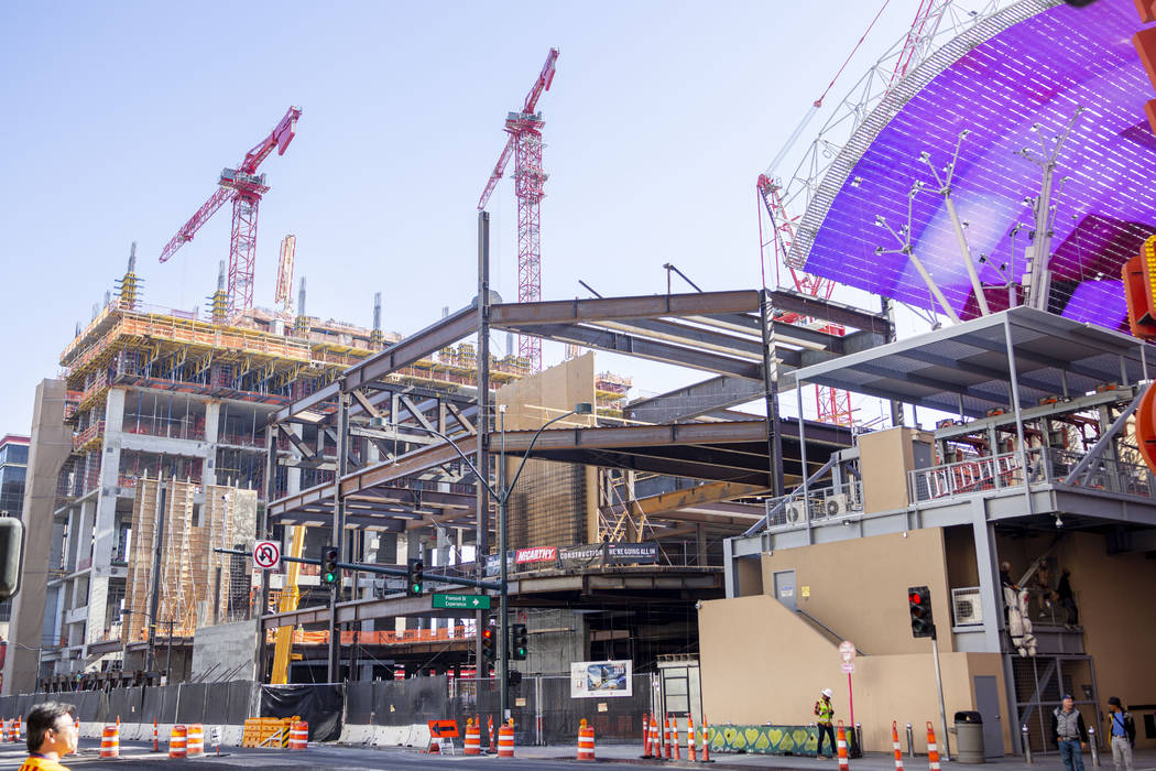 Circa, the new hotel-casino by owners Derek and Greg Stevens, under construction in Downtown La ...