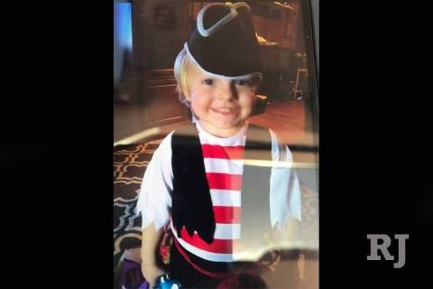 Las Vegas police found the body of 3-year-old Daniel Theriot early Monday, Sept. 3, 2018, in a ...