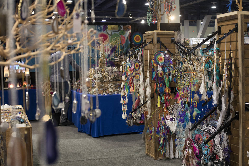 The Village Originals booth at the Souvenir & Resort Gift Show at the Las Vegas Convention ...