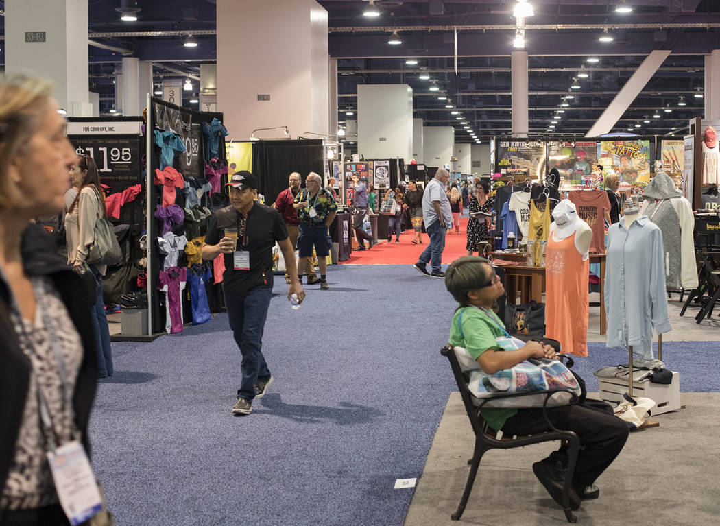 The Souvenir & Resort Gift Show at the Las Vegas Convention Center in Las Vegas, Wednesday, ...