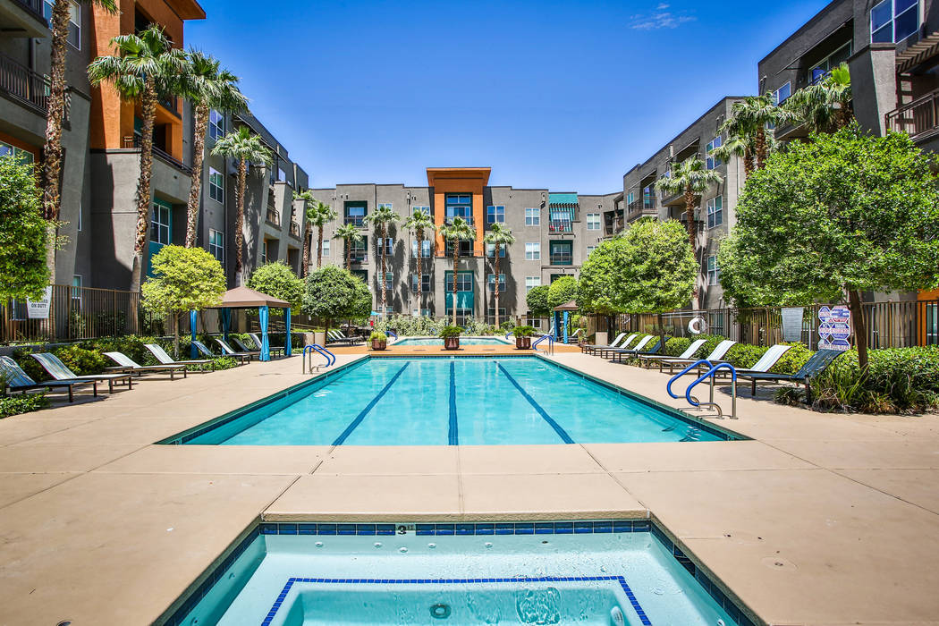 Security Properties has purchased Las Vegas apartment complex Lofts at 7100, seen here, for $80 ...