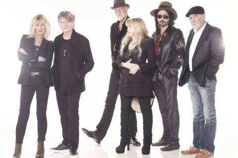 Rock icons Fleetwood Mac, from left, Christine McVee, Neil Finn, Mick Fleetwood, Stevie Nicks, ...