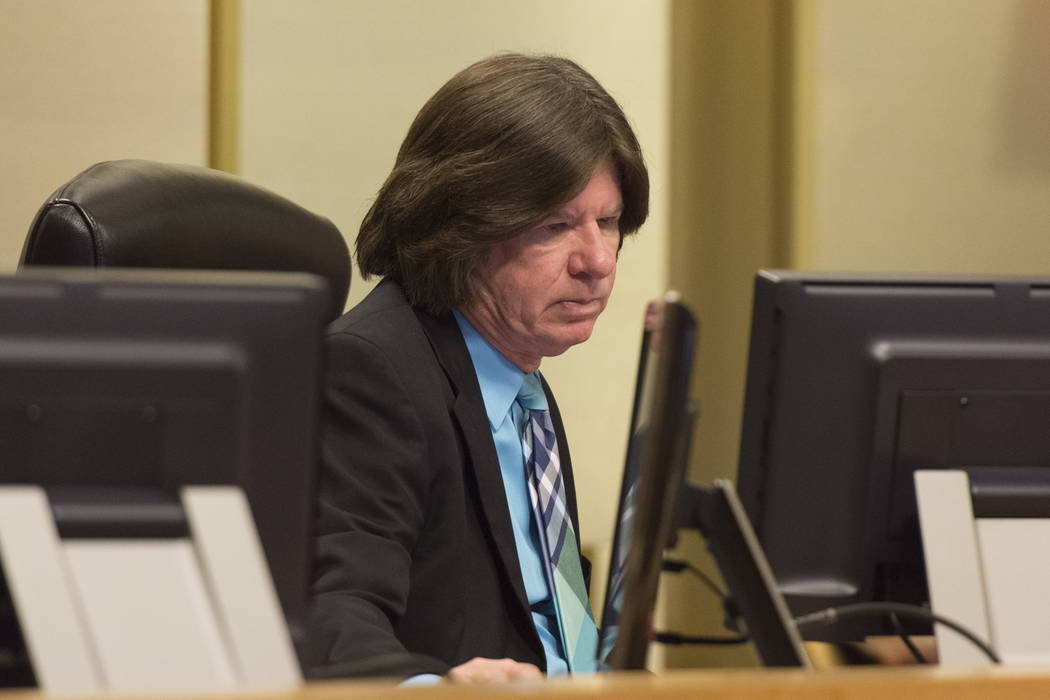 City Attorney Brad Jerbic is seen at Las Vegas City Hall Council Chambers on Aug. 3, 2016. (Jas ...