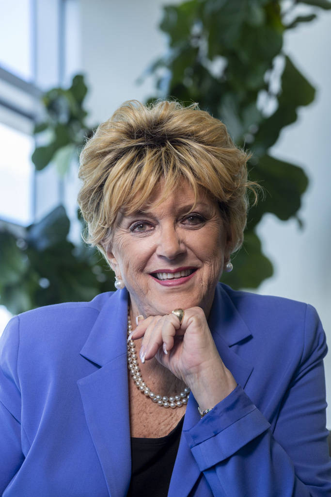 Mayor Carolyn Goodman at Las Vegas City Hall on Monday, Sept. 16. 2019 in Las Vegas. (Elizabeth ...